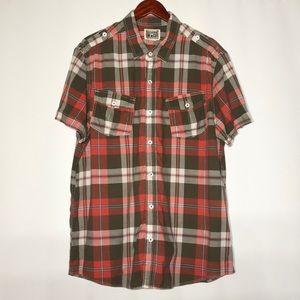Men's short sleeve Convers button down shirt